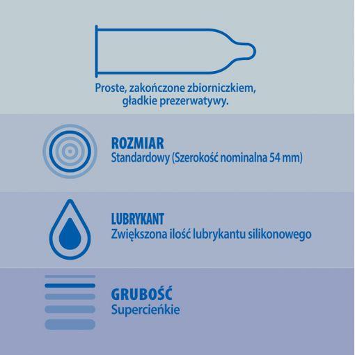 Durex Invisible najcieńsze prezerwatywy dodatkowo nawilżane 3 szt.
