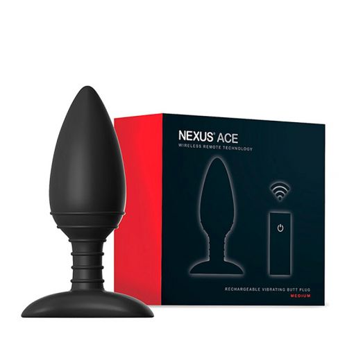 Nexus Ace wibrujący korek analny sterowany pilotem rozmiar M czarny