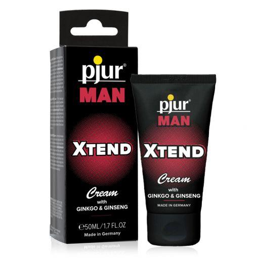 Pjur Man Xtend stymulujący krem z żeń-szeniem i miłorzębem japońskim dla mężczyzn 50 ml