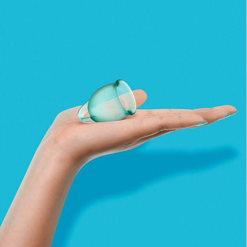 Satisfyer Feel Confident zestaw kubeczków menstruacyjnych miętowy - 15, 20 ml