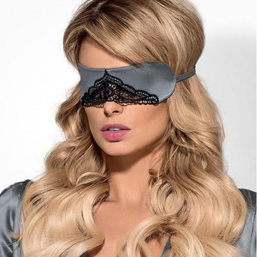 Obsessive Satinia maska na oczy szara