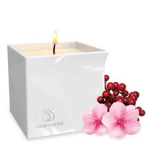 Jimmyjane Afterglow świeca do masażu kwiat borówki 128 g