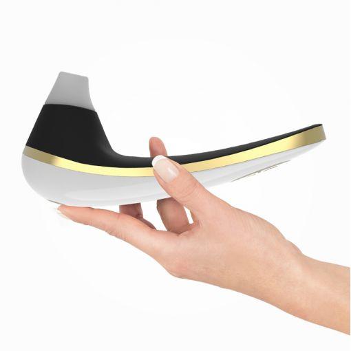 Womanizer Plussize bezdotykowy masażer łechtaczki biało-czarno-złoty
