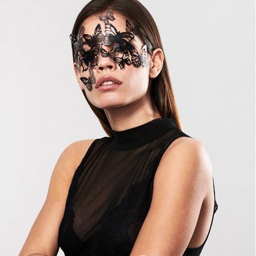 Bijoux Indiscrets ozdobna maska na oczy Sybille - czarna
