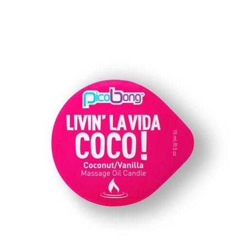 PicoBong świeczka do masażu kokos i wanilia 15 ml
