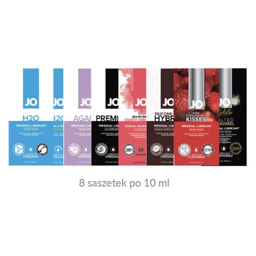 System JO Beginner's Luck prezentowy zestaw lubrykantów dla początkujących 8 x 10 ml