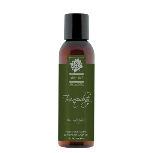 Sliquid Balance olejek do masażu Tranquility - kokos, limonka, werbena - 125 ml