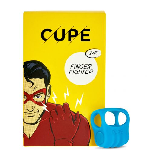 CUPE Finger Fighter masażer łechtaczki zakładany na palec niebieski