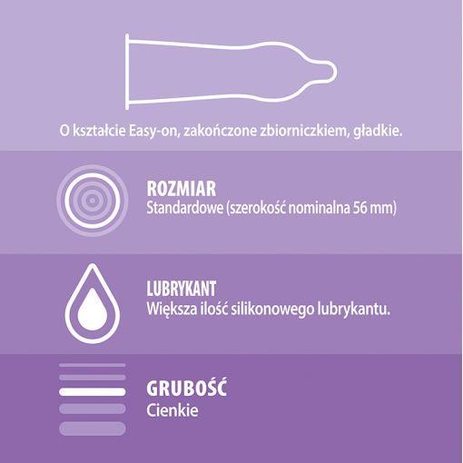 Durex Feel Thin ultracienkie dodatkowo nawilżane prezerwatywy 3 szt.