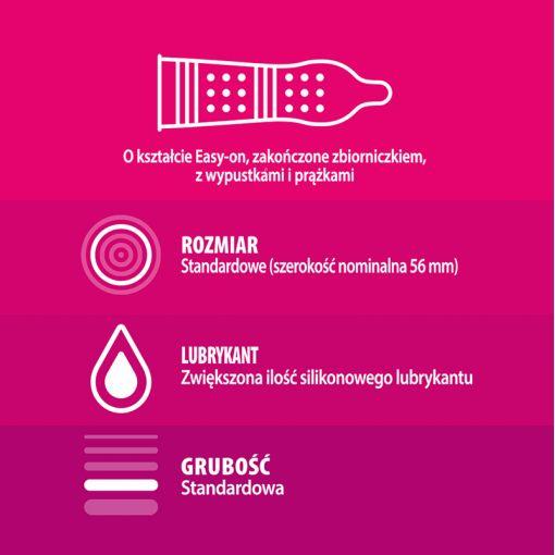 Durex Pleasuremax prezerwatywy ze stymulującymi prążkami i wypustkami 3 szt.