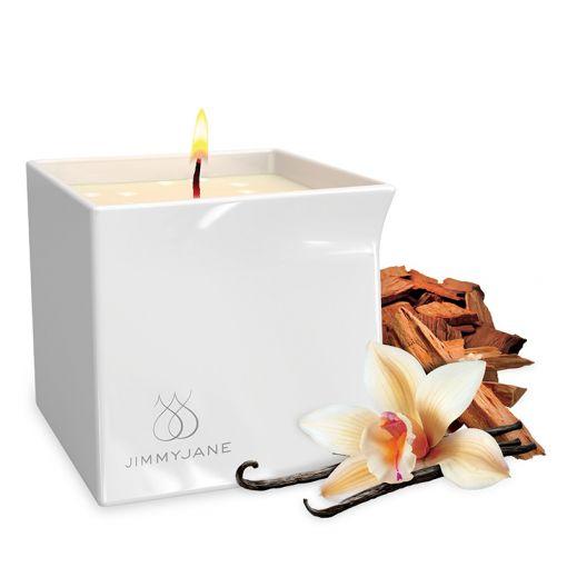 Jimmyjane Afterglow świeca do masażu wanilia i drzewo sandałowe 128 g