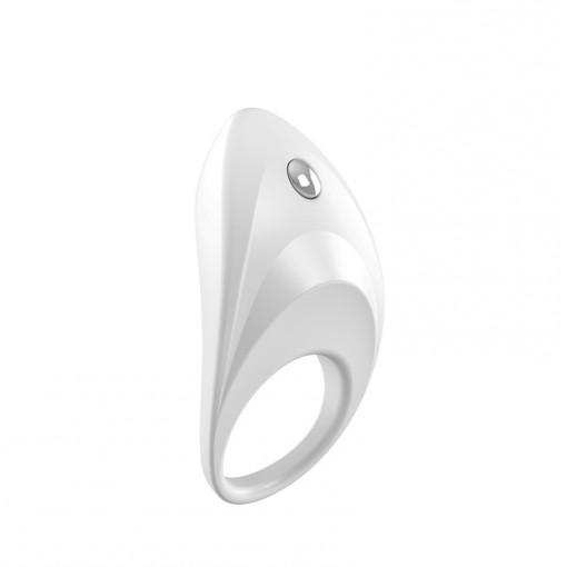 OVO B7 wibrujący pierścień dla par biały