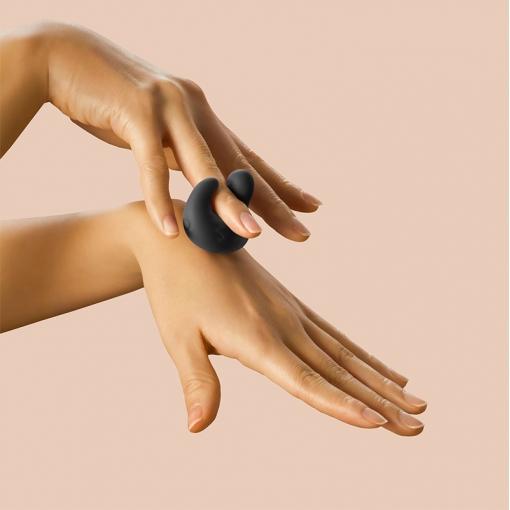 YESforLOV LOV Finger miniwibrator z żelem stymulującym czarny