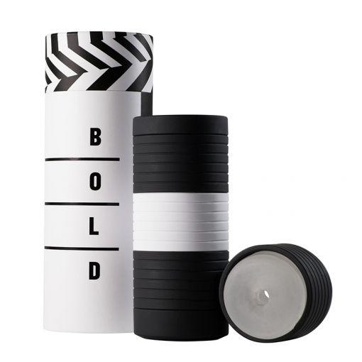 BOLD Triple trzyczęściowy masturbator czarno-biały