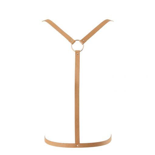 Bijoux Indiscrets Maze uprząż w kształcie litery Y brązowa