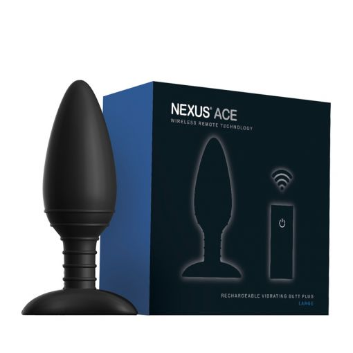 Nexus Ace wibrujący korek analny sterowany pilotem rozmiar L czarny
