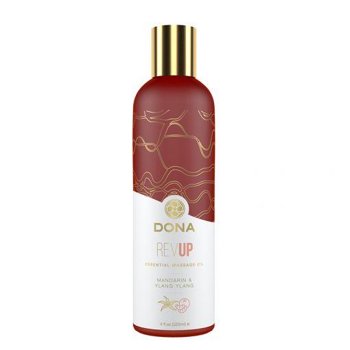 Dona aromatyczny olejek do masażu Rev Up - mandarynka i ylang ylang - 120 ml