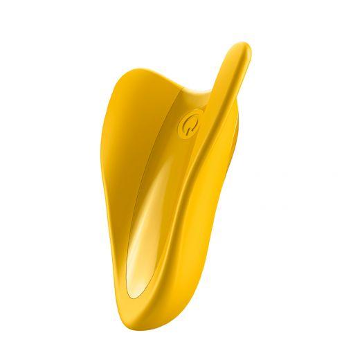Satisfyer High Fly minimasażer do trzymania między palcami żółty