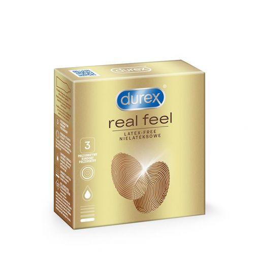 Durex Real Feel prezerwatywy nielateksowe 3 szt.