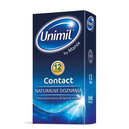Unimil Contact supercienkie prezerwatywy 12 szt.