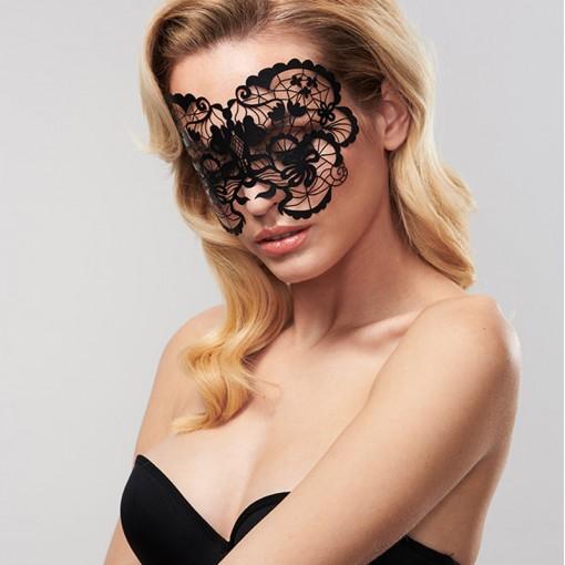 Bijoux Indiscrets ozdobna maska na oczy Anna - czarna