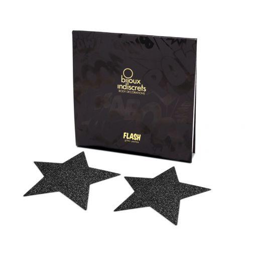 Bijoux Indiscrets Flash nasutniki gwiazdki czarne