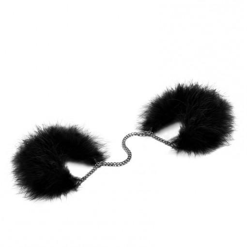 Bijoux Indiscrets Za Za Zu kajdanki z piórek czarne