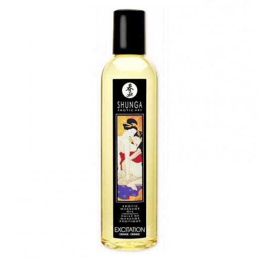 Shunga olejek do masażu Excitation pomarańczowy 250 ml