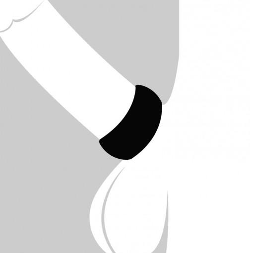 Velv'Or BeauGosse 001 pierścień erekcyjny czarny