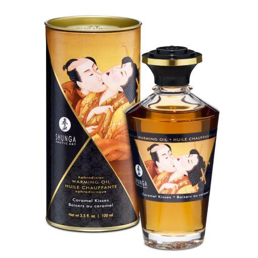Shunga Aphrodisiac Oil rozgrzewający olejek do stref erogennych karmelowy 100 ml