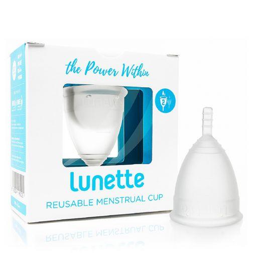 Lunette kubeczek menstruacyjny przezroczysty rozmiar 2