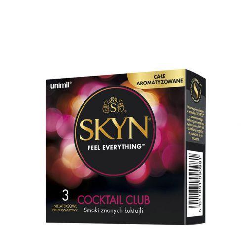 SKYN Cocktail Club nielateksowe prezerwatywy o smaku koktajli 3 szt.