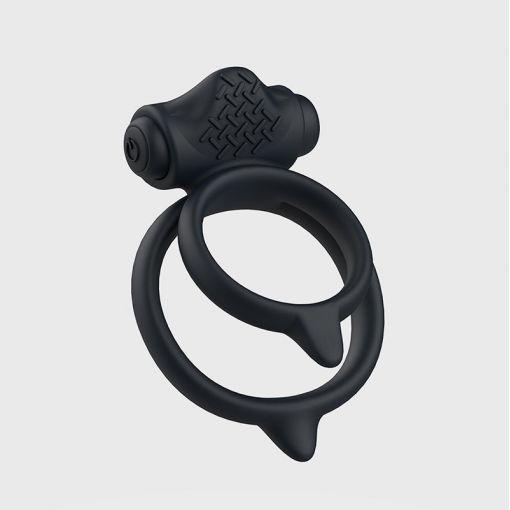 B Swish Bcharmed Basic Plus podwójny wibrujący pierścień dla par czarny