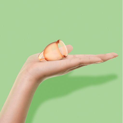 Satisfyer Feel Confident zestaw kubeczków menstruacyjnych pomarańczowy - 15, 20 ml