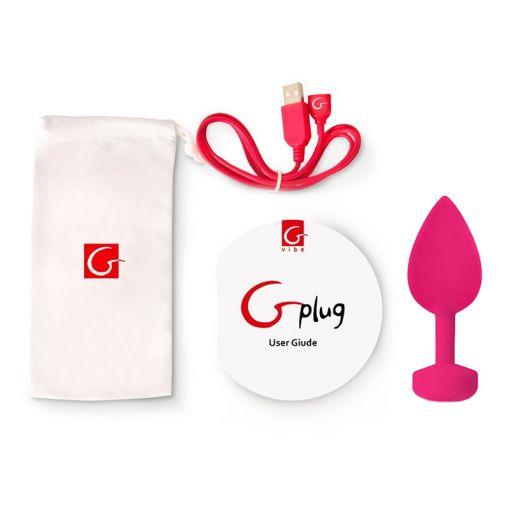 Fun Toys Gplug wibrujący korek analny neonowy róż - rozmiar L
