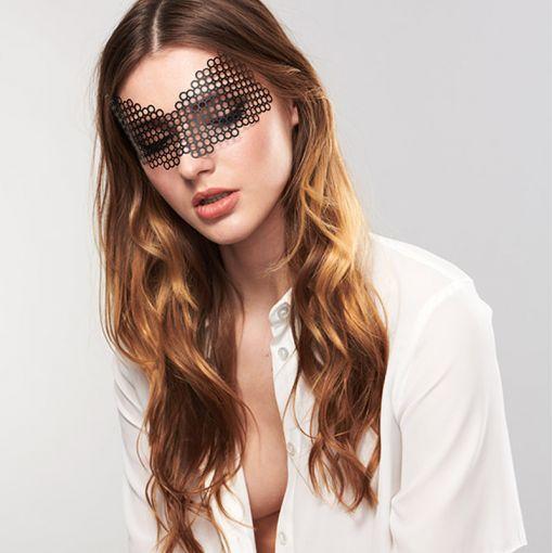 Bijoux Indiscrets ozdobna maska na oczy Erika - czarna