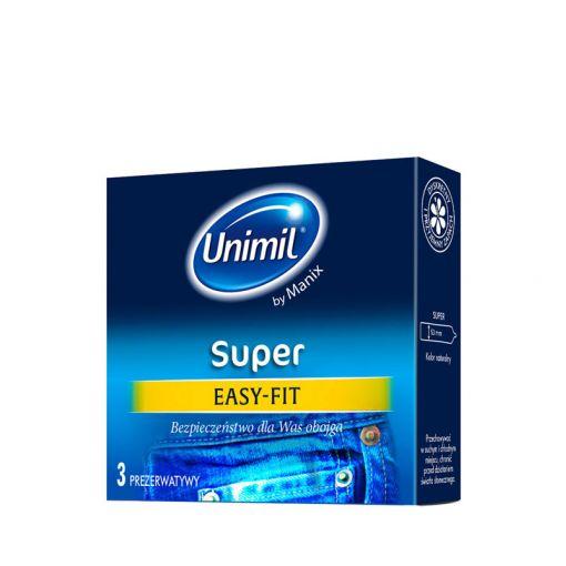 Unimil Super Easy-Fit klasyczne prezerwatywy 3 szt.